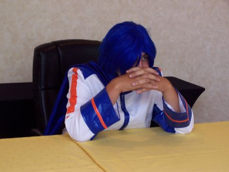 Kaito Cosplay Gendo Pose by SDF-RickHunter
