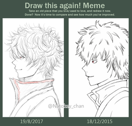 [Draw this again meme] Sakata gintoki by Natokey