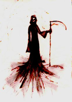 Grim Reaper Water Colour by LadyVicereine