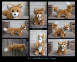 Plushie Commission: Oliver the Cat by Avanii