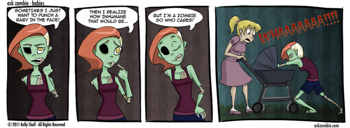 Ask Zombie - Babies by flyingpiggie