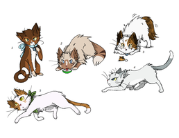 I worked on these for two hours (Offer to adopt) by PoisonFate