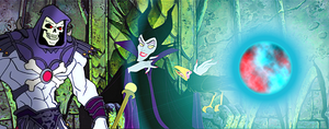 Maleficent and Skeletor - Light of a Power Orb by Big-Al-Son86