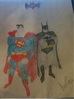 Batman and superman by Wolf--Prime