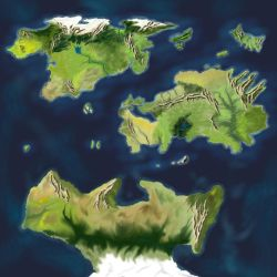 The Divided Hemisphere of Escuran by desuran