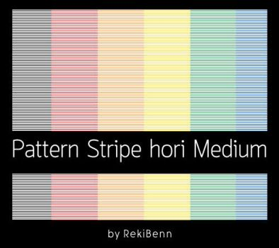 Pattern Stripe hori Medium by TheSeekerReki