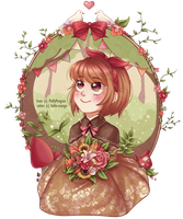 Flowery Forest Girl - COLLAB by hello-mango