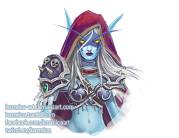 Sylvanas quick paint by kozmica64