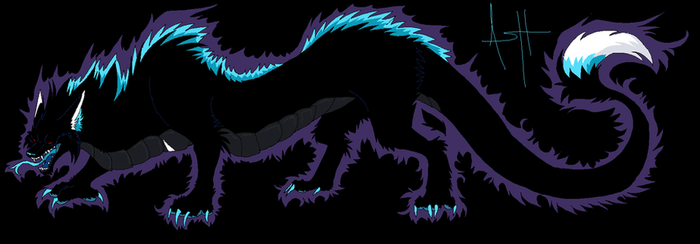 Shadow Dragon wolf by Ash-Dragon-wolf