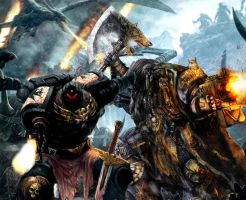 Space Marine Brothers Last Stand by Eragon2589