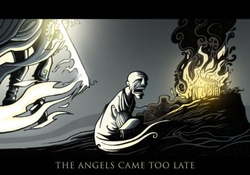 The Angels came too late by Bluthan