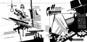 typography layout, action --fd by fuzzydemon