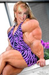 Milly Carlucci, pretty sexy face and supermuscles by saitta4