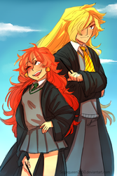 Slayers Hogwarts Au by Sogequeen2550