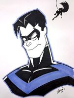 Nightwing Bust by AndrewJHarmon