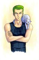 zoro-and-cat2 by Nastix-M-Scarhl