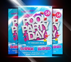 Pool Party Day Flyer by afizs