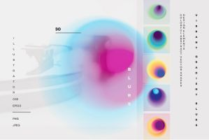 Vibrant gradient blurs by GraphicAssets