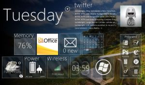 Netbook,UX Rainmeter theme by fiveseven808