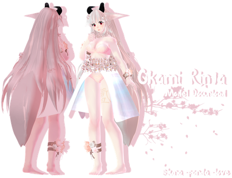 [MMD Model DL] Okami Rinta -Update- by luna-panda-love