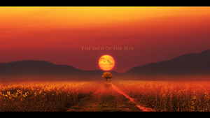 The path of the sun by Ellysiumn