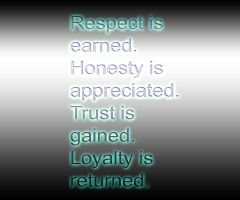 Respect is Earned and Trust is also earned by DanielWolf14