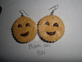 Boucles d'oreilles BN (Fimo earrings) by AkilajoGraphic