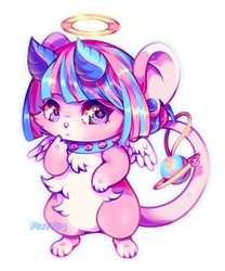 Cotton Candy Mouse by catcoins