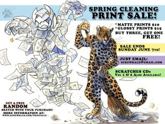 Spring Cleaning Print Sale by screwbald