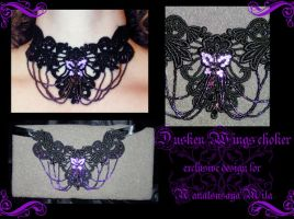Dusken Wings choker by redLillith