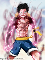 Monkey D. Luffy - Gear Fourth (Slim version) by fpxzy111