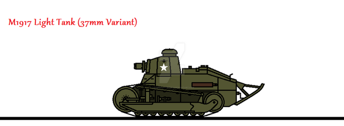 M1917 Light Tank (37mm Variant) by thesketchydude13