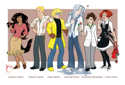 Chapter 1 Character Line Up by GingerOpal