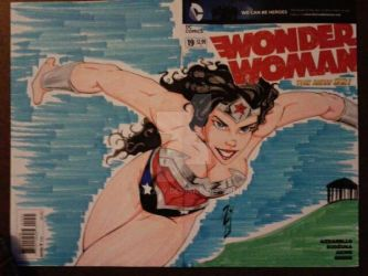 Wonder Woman Sketch Cover II by JazzRy