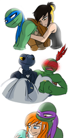 TMNT Couples by Tamersworld