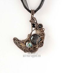 Steampunk Moon pendant by ukapala