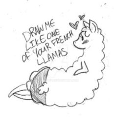 Draw me like one of your french llamas... by YamPuff