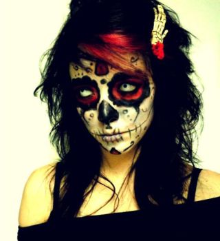 Day of the Dead in Red by vampiresugarrush