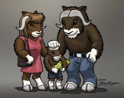 Small musk ox herd colored by MarcelloRupelli