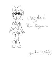 Rin Kagamine :ROUGH SKETCH: by Ketgirl1992