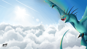 Dragon digital painting #2 by HPE24