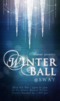 Winter Ball event poster by xpringlex