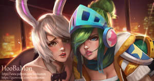 Riven X Rvien by Hoobamon