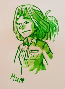 Mia in Green by curiousdoodler