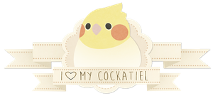 Cockatiel badge by Shegoran