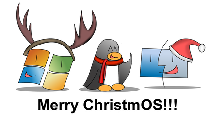 Merry ChristmOS!!! by WindyThePlaneh