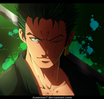 Speed painting Roronoa Zoro by Asterion7 by Asterion7