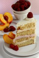Peach Raspberry Mousse Cake 2 by bittykate