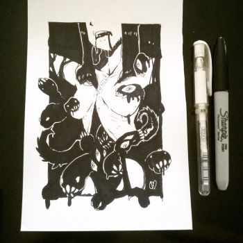Inktober-13-Teeming by DarkHatDesign