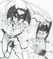 WOLVERINE VS DEVILMAN! by Arak-8
